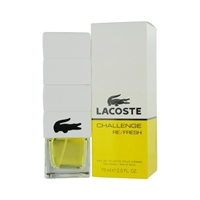 Lacoste Challenge Refresh by Lacoste for Men 2.5 oz Eau De Toilette Spray