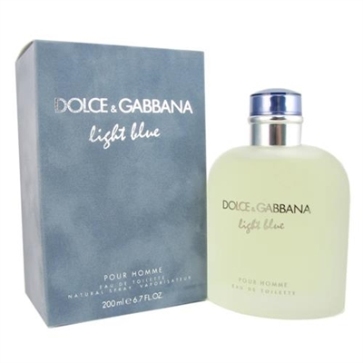 Light Blue by Dolce & Gabbana for Men 6.8oz Eau De Toilette Spray