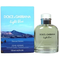 Light Blue Discover Vulcano by Dolce & Gabbana for Men 4.2oz Eau De Toilette Spray