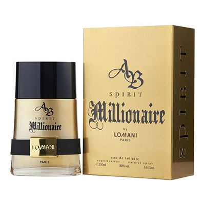 AB Spirit Millionaire by Lomani for Men 6.6oz Eau De Toilette Spray