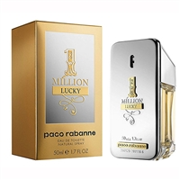 1 Million Lucky by Paco Rabanne for Men 1.7oz Eau De Toilette Spray