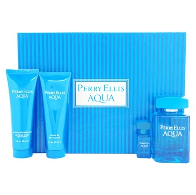 Perry Ellis Aqua by Perry Ellis for Men 4 Piece Gift Set