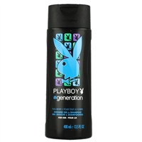 Playboy Generation Shower Gel & Shampoo for Him 13.5oz / 400ml