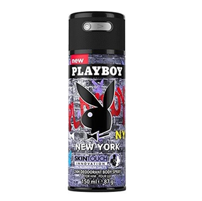 Playboy New York 24H Deodorant Body Spray for Men 150ml / 87g