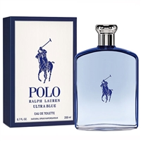 Polo Ultra Blue by Ralph Lauren for Men 6.7oz Eau De Toilette Spray