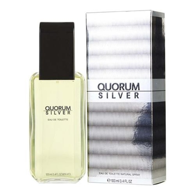 Quorum Silver by Antonio Puig for Men 3.4 oz Eau De Toilette Spray
