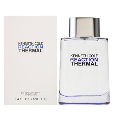 Reaction Thermal by Kenneth Cole for Men 3.4 oz Eau De Toilette Spray