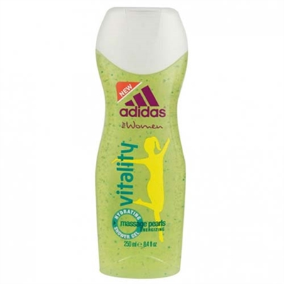 Adidas Vitality Massage Pearls Energizing Shower Gel for Women 8.4oz / 250ml