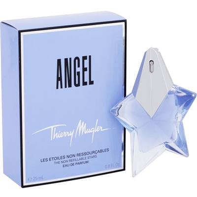 Angel The Non Refillable Stars by Thierry Mugler for Women 0.8oz Eau De Parfum Spray
