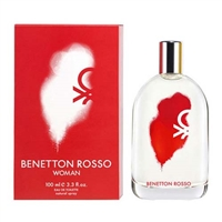 Rosso by United Colors of Benetton for Women 3.3oz Eau De Toilette Spray