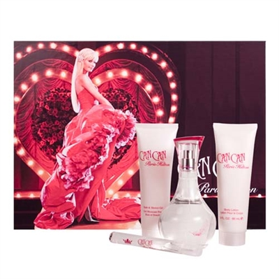 Can Can by Paris Hilton for Women 4 Piece Gift Set