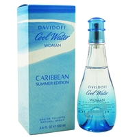 Cool Water Caribbean Summer by Zino Davidoff for Women 3.4oz Eau De Toilette Spray