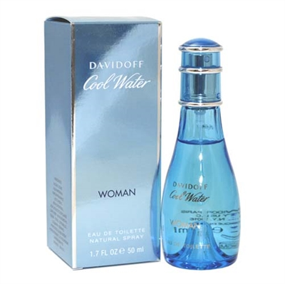 Cool Water by Zino Davidoff for Women 1.7 oz Eau De Toilette Spray
