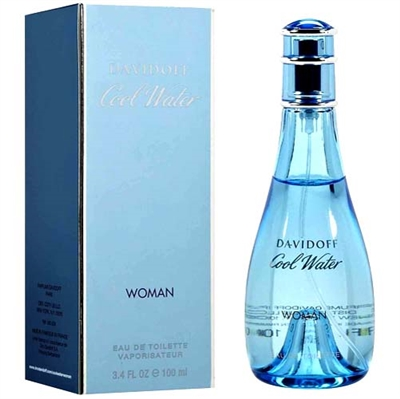 Cool Water by Zino Davidoff for Women 3.4 oz Eau De Toilette Spray