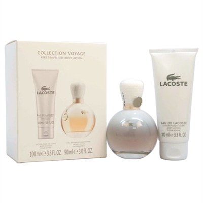 Eau De Lacoste by Lacoste for Women 2 Piece Set