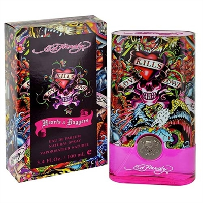 Ed Hardy Hearts & Daggers by Christian Audigier for Women 3.4 oz Eau De Parfum Spray