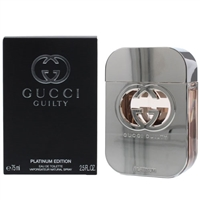 Gucci Guilty Platinum Edition by Gucci for Women 2.5oz Eau De Toilette Spray
