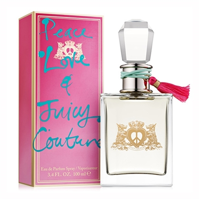 Peace Love by Juicy Couture for Women 3.4 oz Eau De Parfum Spray