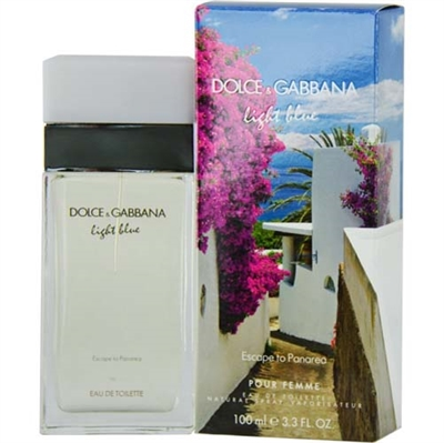 Light Blue Escape To Panarea by Dolce & Gabbana for Women 3.3oz Eau De Toilette Spray