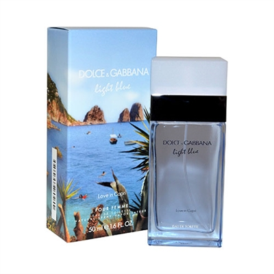 74d47126 Light Blue Love In Capri by Dolce & Gabbana for Women 1.6oz Eau De Toilette  Spray