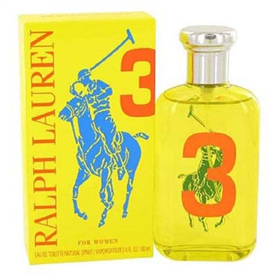 Big Pony Collection  #3 Yellow by Ralph Lauren for Women 3.4 oz Eau De Toilette Spray